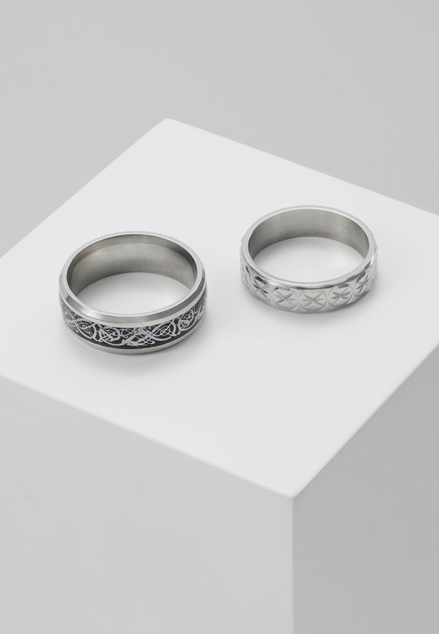 PINKY ETCHED RING SET - Ring - silver-coloured