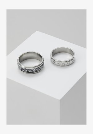 PINKY ETCHED RING SET - Ringar - silver-coloured