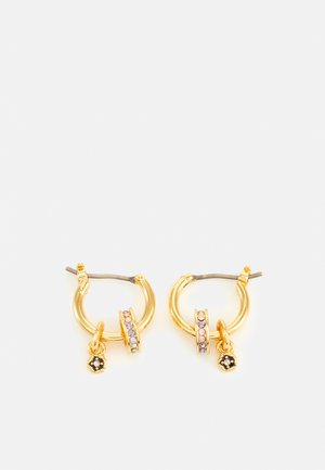 RONDELLE DROP HUGGIE - Earrings - gold-coloured