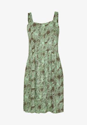 NMFLORA STRAP DRESS PETITE - Denní šaty - kalamata/green ash