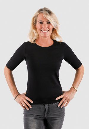 VENUS - Basic T-shirt - black