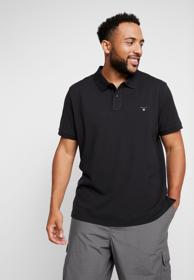 PLUS THE ORIGINAL RUGGER - Polo shirt - black