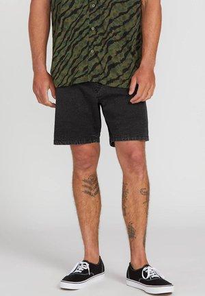 STEPPEN - Denim shorts - black