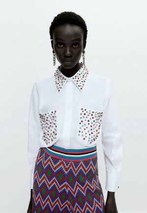 BUNTEM GLITZER - Button-down blouse - white