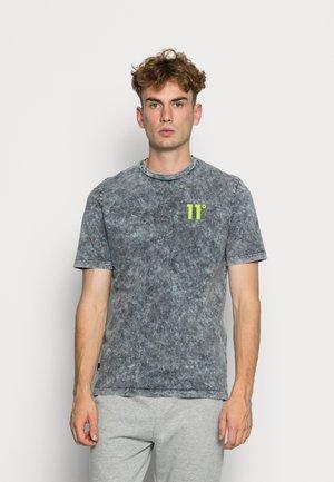 Print T-shirt - black/limeade