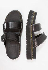 Dr. Martens - MYLES SLIDE - Pantofle - black - 1