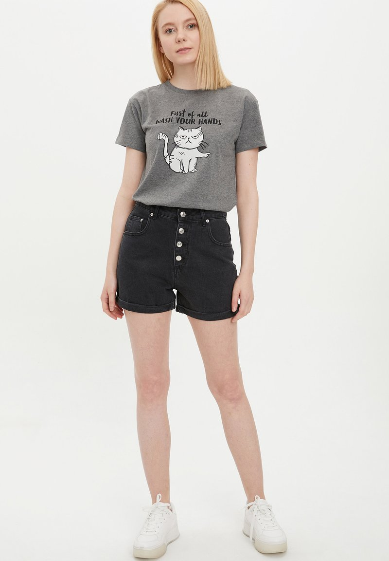DeFacto - Shorts vaqueros - black