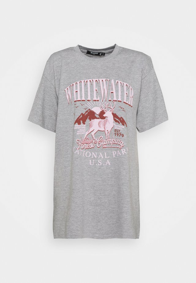 WHITEWATER GRAPHIC  - T-shirt imprimé - grey