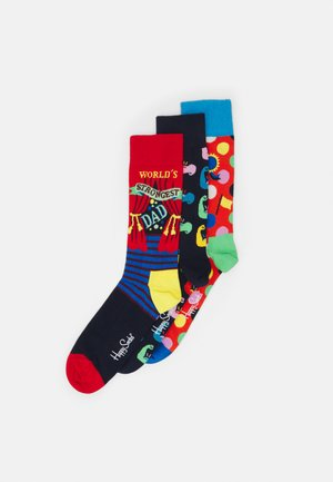 FATHERS DAY SOCKS GIFT UNISEX 3 PACK - Socks - multi