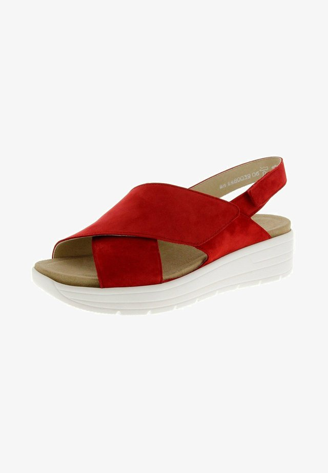 GRETA - Platform sandals - rot