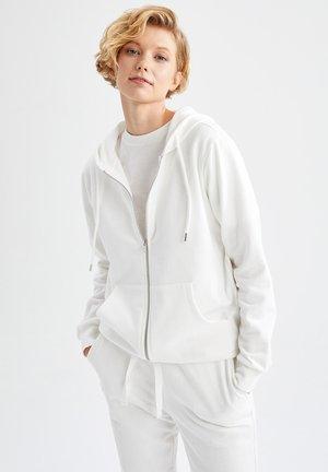 REGULAR FIT - Sweater met rits - ecru