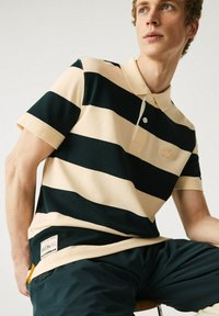 Lacoste - Polo shirt - beige / vert fonce - 3