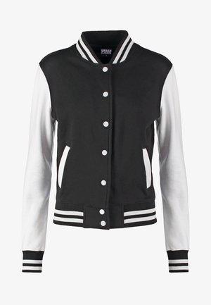 Bomber bunda - black/white