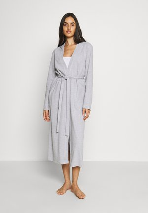 WAFFLE BATHROBE - Dressing gown - grey