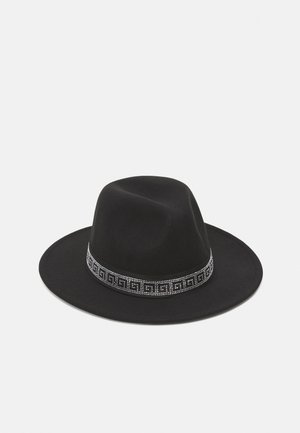 RHINESTONE TRIM FEDORA UNISEX - Hat - black