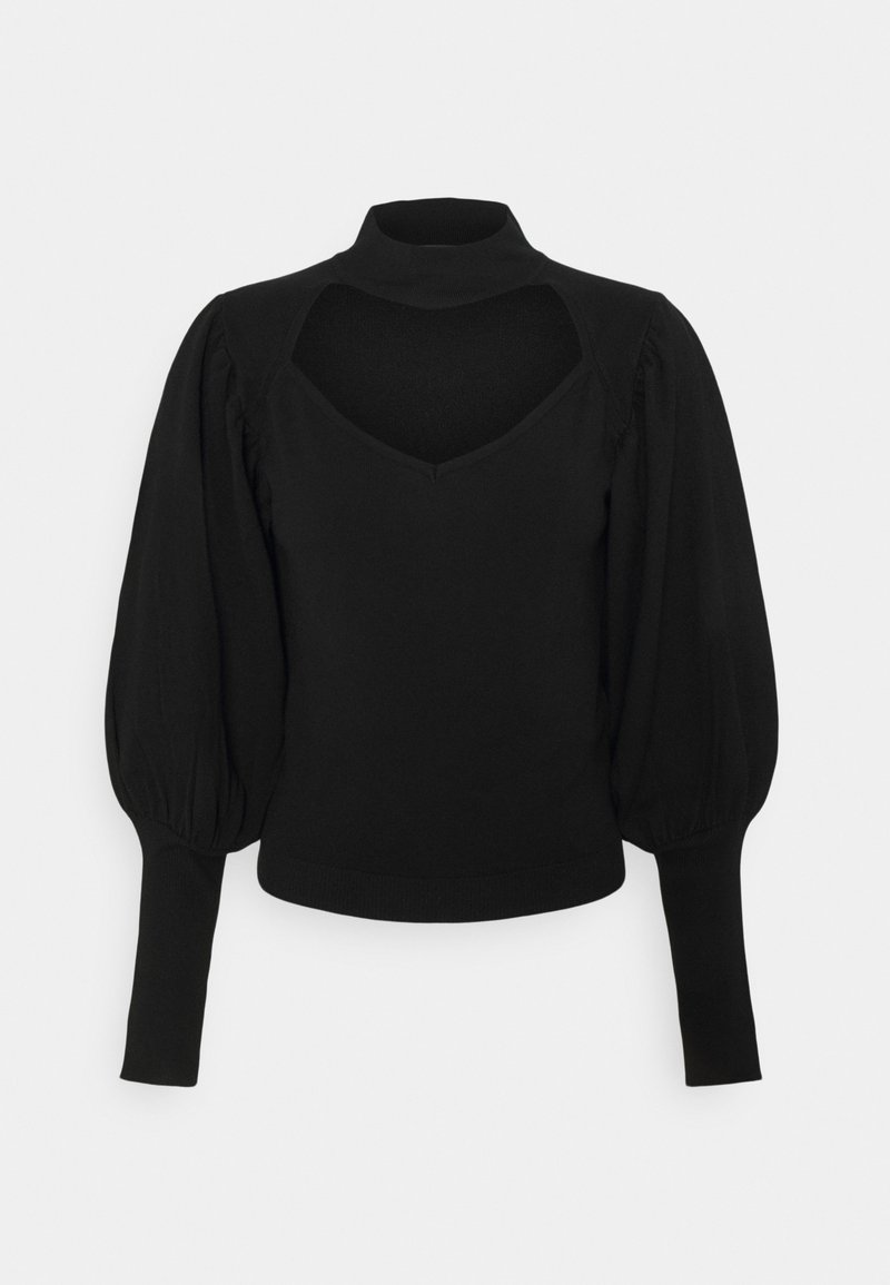 Missguided - CUT OUT PUFF SLEEVE - Jumper - black
