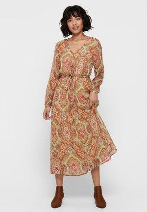 ONLMARY LIFE  L/S MAXI DRESS WVN - Day dress - hot sauce