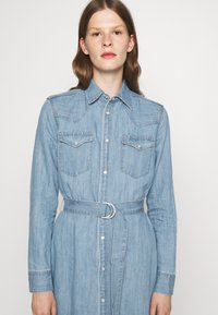 Polo Ralph Lauren - LONG SLEEVE DAY DRESS - Denim dress - leaton wash - 4