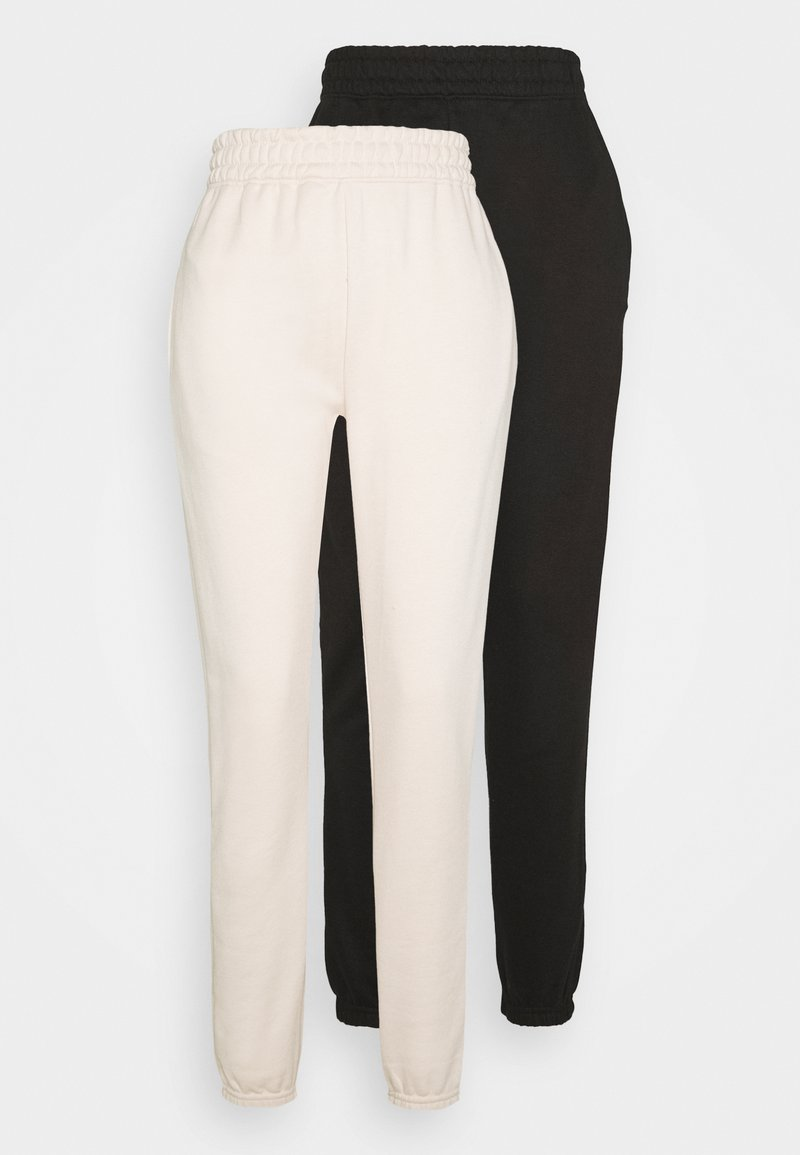 Missguided Tall - BASIC JOGGER 2 PACK - Tracksuit bottoms - sand/black