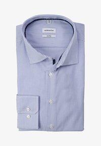Seidensticker - SHAPED STREIFEN LANGARM BÜGELFREI  - Formal shirt - blue - 0