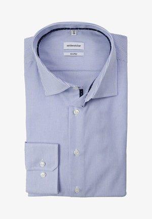SHAPED STREIFEN LANGARM BÜGELFREI  - Formal shirt - blue