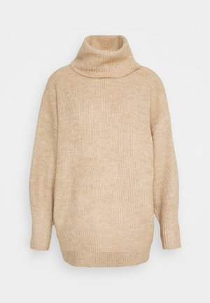 FASH SLOUCHY ROLL NECK - Maglione - camel