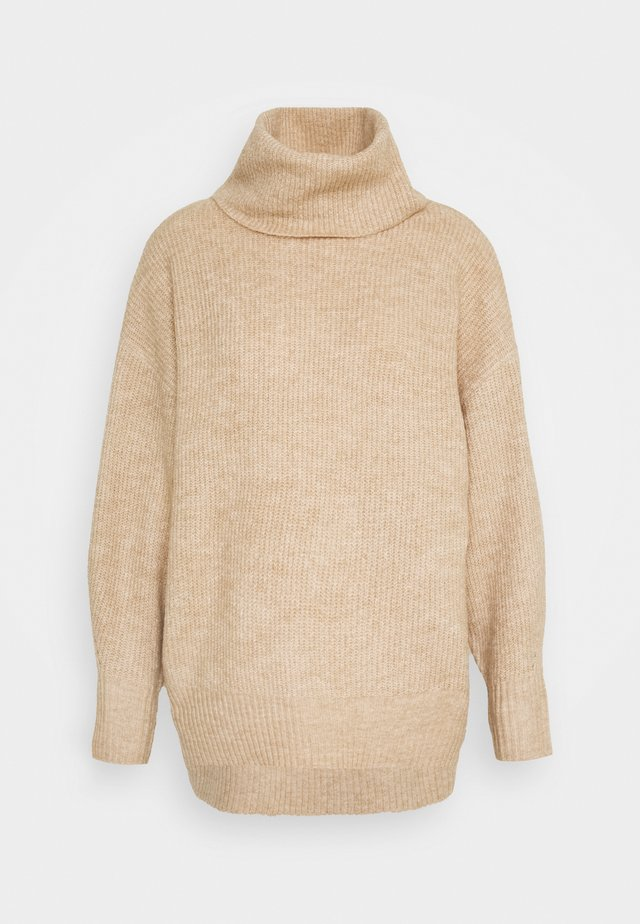 FASH SLOUCHY ROLL NECK - Jumper - camel