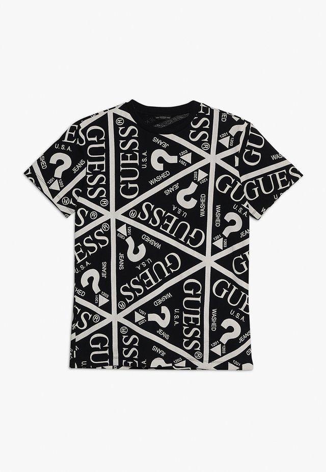 JUNIOR UNISEX OVERSIZE ICON - T-shirt print - jet black