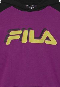 Fila - JAZZ CROPPED HOODY - Sweatshirt - sparkling grape/black/sharp green - 2