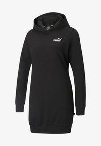 Puma - ESSENTIALS HOODED KVINDE - Day dress - puma black - 0