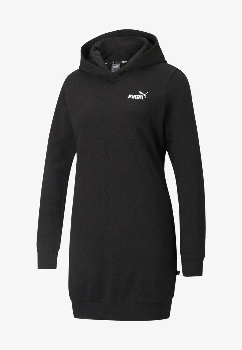 Puma - ESSENTIALS HOODED KVINDE - Day dress - puma black