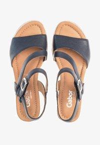 Gabor - Wedge sandals - blue - 0