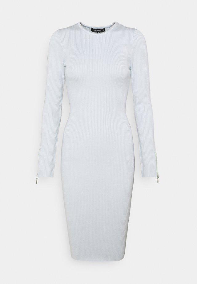 ZIP DETAIL MIDI DRESS - Pletené šaty - blue