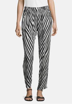 MIT EINGRIFFTASCHEN - Trousers - schwarz/weiß