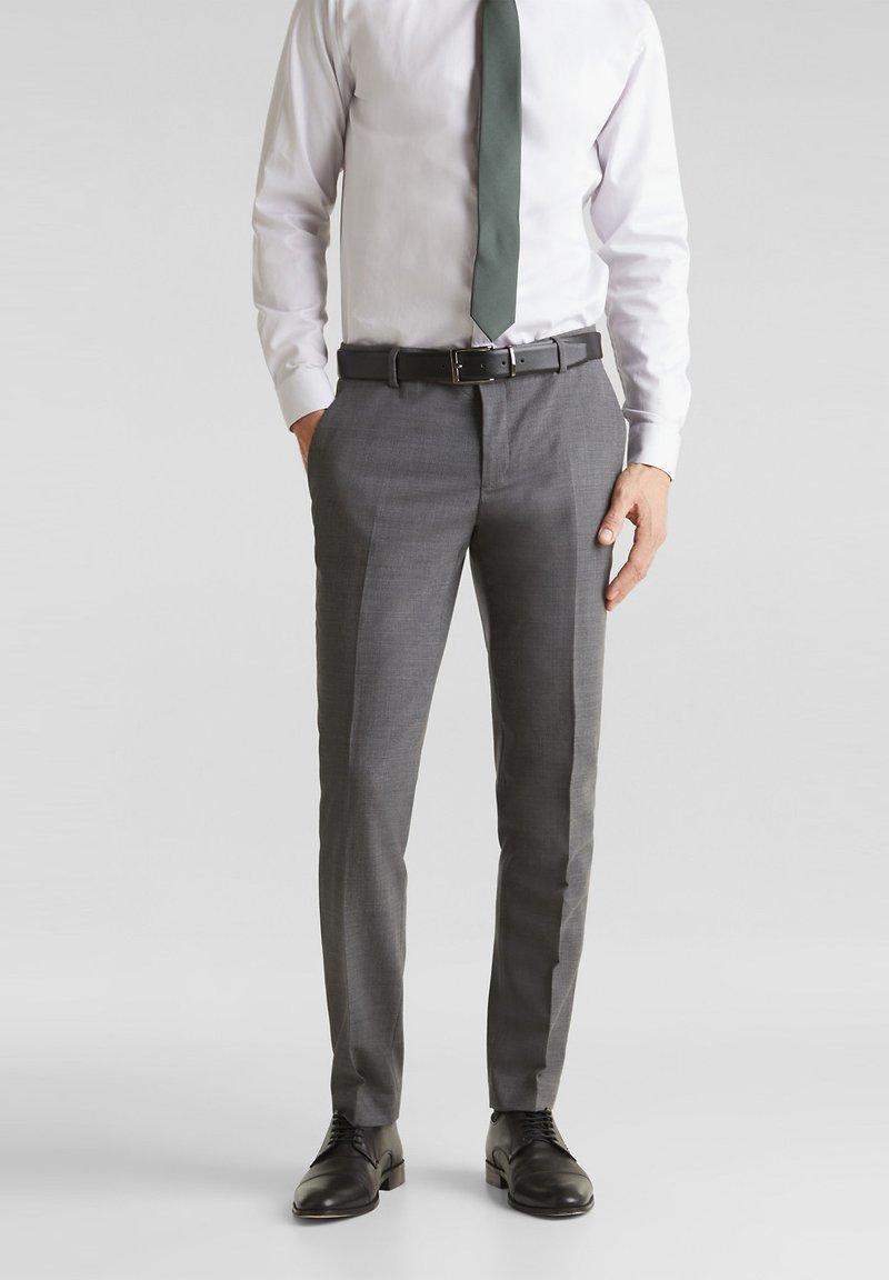 Esprit Collection - ACTIVE - Suit trousers - dark grey