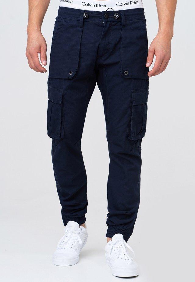 Pantalon cargo - navy