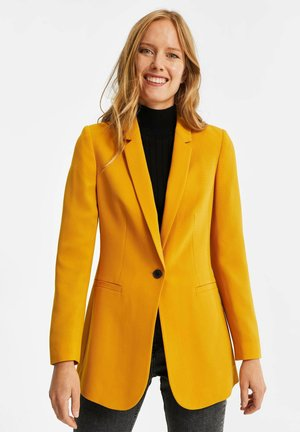 MET STRUCTUUR - Blazer - ochre yellow