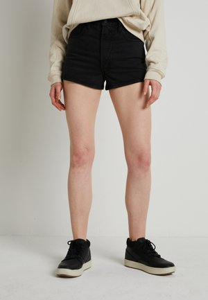 WELLTHREAD RIBCAGE SHORT - Denim shorts - spring tide hemp