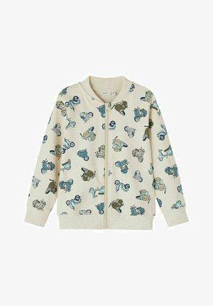 Sweater met rits - peyote melange