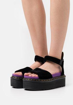 STRAP X-GIRL - Sandalias con plataforma - black