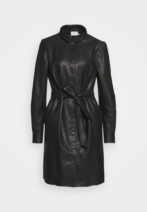 KALEANN DRESS - Shirt dress - black deep