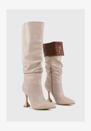 ELIONOR - Stivali con i tacchi - beige