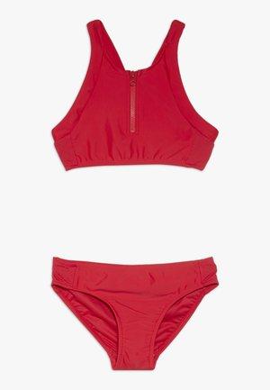ZIP FRONT TANKINI - Bikini - ruby red