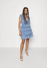 Lace & Beads - MINI - Cocktail dress / Party dress - blue - 1