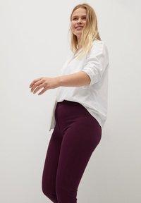 Violeta by Mango - Leggings - Trousers - weinrot - 3