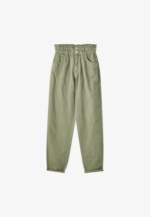 Relaxed fit jeans - mottled dark green