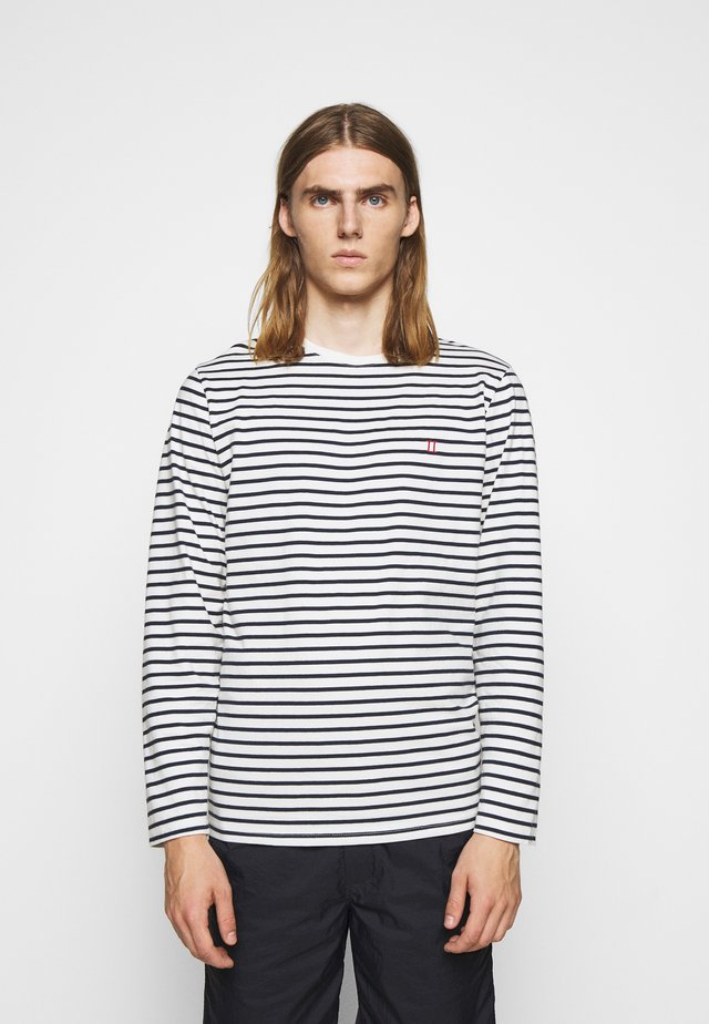SAILOR STRIPE - T-shirt à manches longues - off white/dark navy/red