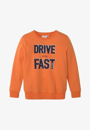 MIT PLATZIERTEM PRINT - Sweatshirt - firecracker|orange