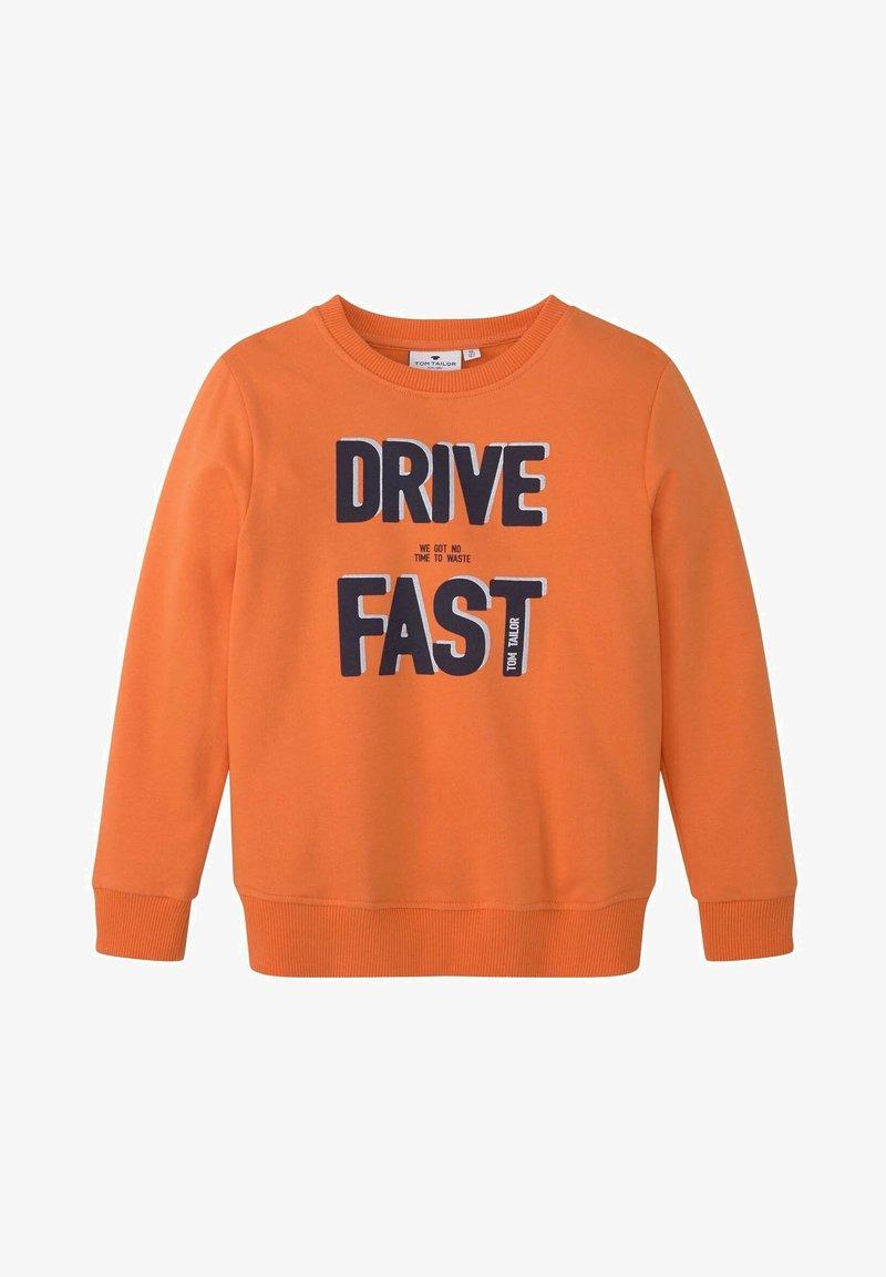 TOM TAILOR - MIT PLATZIERTEM PRINT - Sweatshirt - firecracker|orange