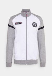 Fila - SMUDO - Zip-up hoodie - light grey melange/white - 4